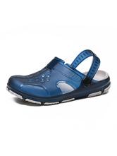 Мужские сандалии без застежки из искусственной кожи EVA Sole PU Верхняя повседневная синяя сабо