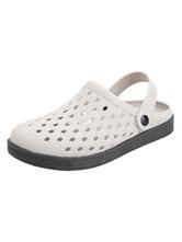 Мужские сандалии без шнуровки из искусственной кожи с подошвой из ЭВА светло-серые сабо обувь
