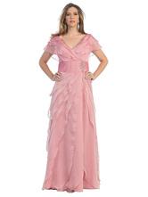 Розовое свадебное платье для матери с v-образным вырезом и короткими рукавами, трапеция из шифона со складками, длиной до пола, свадебные платья для гостей