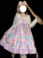 Sweet Lolita Cover-up White Ruffles Top Bunny Pattern Poliestere Lolita Outwears