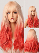 Ture Red Lolita Wig Highlighting Hair Lolita Accessories