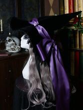 Gothic Lolita Hat BowsLace Accessory LaceBow Polyester Purple Lolita Witch Hat