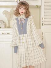 Lolita Coats BowsRuffles Bow Polyester Light Sky Blue Fall Sweet Lolita Outwears
