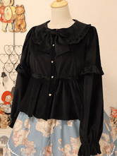 Lolita Coats BowsRuffles Polyester Bow Burgundy Winter Lolita Outwears