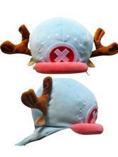 One Piece Tony Tony Chopper Blue Plush Cloth Anime Hat