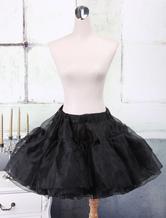 Schwarze Organza a-Linie Lolita Petticoat