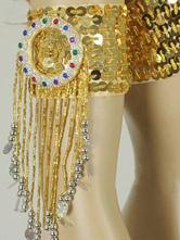 Carnevale Bracciali eleganti classici da ballo oro di poliestere per donne Halloween