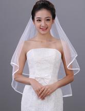 Süßer klassischer Brautschleier aus weißem Tüll