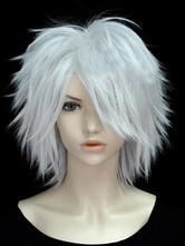 Halloween Hair Wigs Fashion White 30cm Faux Short Full Carnival wig