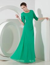 Abendkleid aus Chiffon in Grün