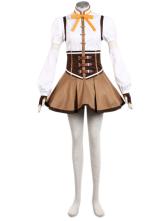 Puella Magi Madoka Magica Tomoe Mami Cosplay Costume Halloween