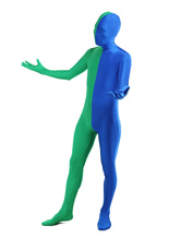 Anime Costumes AF-S2-206902 Green Blue Lycra Spandex Full Body Zentai Suit