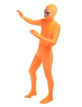 Faschingskostüm Bequemer Unisex Zentai aus Elastan in Orange