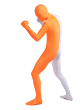 Anime Costumes AF-S2-206920 White Orange Lycra Spandex Full Body Zentai Suit