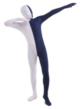Anime Costumes AF-S2-206924 Dark Navy White Lycra Spandex Full Body Zentai Suit
