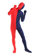 Anime Costumes AF-S2-206926 Dark Navy Red Lycra Spandex Full Body Zentai Suit