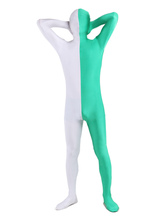 Anime Costumes AF-S2-206940 Halloween White Green Lycra Spandex Full Body Zentai Suit
