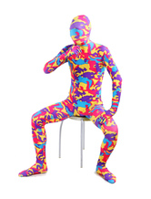Multi Color Print Lycra Spandex Full Body Zentai Suit for Halloween  Halloween