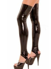 Anime Costumes AF-S2-230942 Halloween Sexy Black Latex Women's Stockings