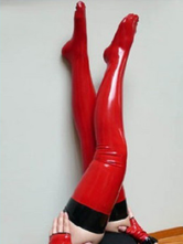 Anime Costumes AF-S2-230948 Halloween Attractive Red Latex Women's Stockings
