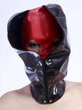 Anime Costumes AF-S2-234758 Halloween Black Zipper Latex Catsuit's Hood