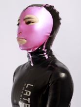 Anime Costumes AF-S2-234754 Halloween Color Blocking Latex Unisex Catsuits & Zentai Hood