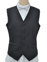 Anime Costumes AF-S2-244078 Steampunk Vintage Costume Black Waistcoat Men's Back Strap Retro Suit Vest