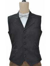 Anime Costumes AF-S2-244066 Black Steampunk Waistcoat Vintage Costume Men's Retro Suit Vest