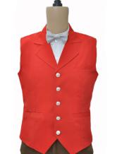 Anime Costumes AF-S2-244072 Steampunk Suit Vest Costume Clothing Men's Red Vintage Waistcoat