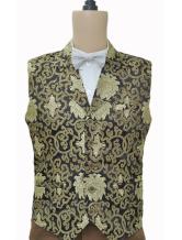 Anime Costumes AF-S2-244070 Steampunk Men's Waistcoat Vintage Costume Clothing Jacquard Retro Suit Vest