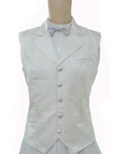 Anime Costumes AF-S2-244074 Vintage Steampunk Costume White Men's Waistcoat Back Strap Retro Suit Vest
