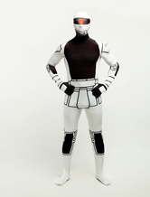 Anime Costumes AF-S2-245604 Halloween Gundam White and Black Zentai Catsuit Lycra Spandex Costume