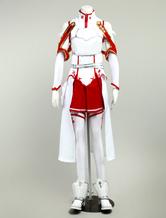 Inspirado por Traje de Espada de arte on-line Yuuki Asuna Cosplay Fantasia Halloween