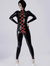 Anime Costumes AF-S2-261192 Halloween Multi Color Unisex Shaping Lace Up Latex Catsuit