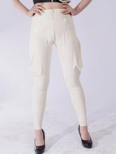 Anime Costumes AF-S2-261270 Halloween White Unisex Skinny Trendy Latex Leggings