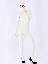Catsuit latex une pièce unisexe unique blanc Déguisements Halloween