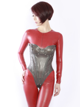 Anime Costumes AF-S2-261334 Halloween Sexy Grey Latex Corset
