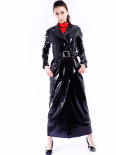 Anime Costumes AF-S2-261260 Halloween Black Unisex Unique Latex Coat