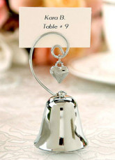 Charming Silver Bell Place Card Holders (Set of 4)