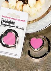 Hot Pink Heart Shaped Purse Hook Favor