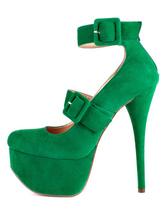 Women's Platform Pumps Elegant Ankle Strap Buckle Stiletto High Heels