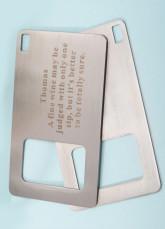 Abridor de garrafas personalizado carteira (conjunto de 4)