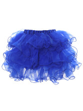 Blue Multi-layered Voile Sexy Corset Skirt