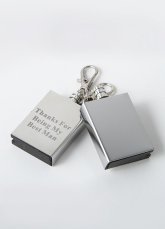 Personalized Keyring Match Box Striker Lighters (Set of 4)