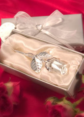 Silver Wedding Favors Glass Crystal Rose