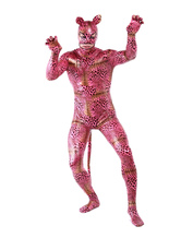 Anime Costumes AF-S2-283108 Halloween Cute Multi Color Unisex Tiger Print Shiny Metalic Lycra Animal Zentai Suits