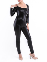 Anime Costumes AF-S2-290876 Halloween Black Women's Shiny Metallic Clothes