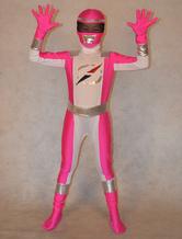 Anime Costumes AF-S2-308794 Pink Power Ranger Zentai Suit for Kid Halloween Super Hero Unisex Full Bodysuit