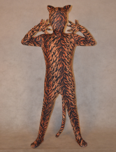 Anime Costumes AF-S2-308812 Tiger Zentai Suit for Kid Spandex Animal Bodysuit Halloween Costume