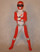 Morph Suit Power Ranger Zentai Suit for Kid Superhero Lycra Spandex Costume Full Body Suit
